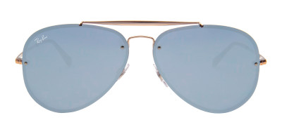 Óculos Ray-Ban RB3584-N Blaze Aviador 61 Prata e Violeta fa758c7fbc