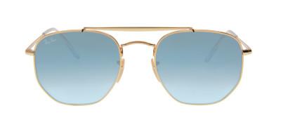 Ray-Ban RB3648 Marshal 54 - Dourado e Azul - 001/3F