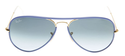 Ray-Ban RB3025JM Aviador Full Color 58 - Azul - 001/4M