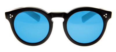 Illesteva Leonard 2  50 - Preto/Azul Espelhado- 02