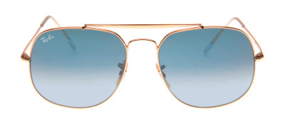 Ray-Ban RB3561 The General 57 - Dourado e Azul - 001/3F