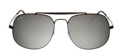 Ray-Ban RB3561 The General 57 - Preto e Prata - 002/9U