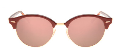 Ray-Ban RB4246 Clubround 51 - Terracota e Rosa - 1220/7O