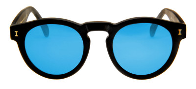 Illesteva Leonard  47 - Preto Fosco/Azul Espelhado- 01